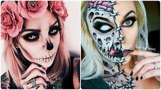 INCREÍBLES MAQUILLAJES PARA HALLOWEEN #8 / Easy Halloween Make Up Tutorial 2017