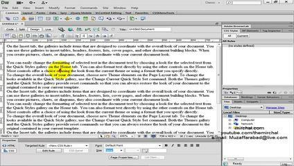 Dreamweaver CS6 Tutorials Urdu Hindi 4