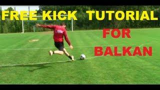 LEARN DAVID BECKHAM FREE KICKS | TUTORIAL | CROATIAN FREE KICK TRAINING