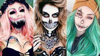 INCREÍBLES MAQUILLAJES PARA HALLOWEEN #19 / Easy Halloween Make Up Tutorial 2017