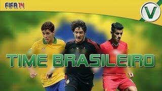 FIFA 14 | Super Time Brasileiro Por Menos De 20k!