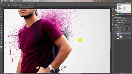 Photoshop tutorials - Splatter - Dispersion photo manipulation Tutorial