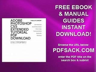 Adobe Photoshop Cs5 Extended Tutorial Pdf Download