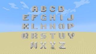 Minecraft Tutorial In Croatian - Better Than Ethos 3x3 ALPHABET ( Abeceda )