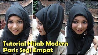 Tutorial Hijab Modern Paris   Tutorial Hijab Modern Paris Segi Empat Terbaru By Revi