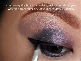 Smokey Purple Eye Make Up Tutorial