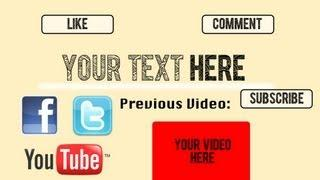 Outro Template AFTER Effects Cs5 - Cs6  --English/Français TUTORIAL Included--