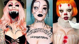 INCREÍBLES MAQUILLAJES PARA HALLOWEEN #12 / Easy Halloween Make Up Tutorial 2017