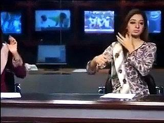 Pakistani News Anchor Behind The Camera Very Funny Must Watch