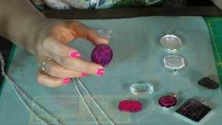 Crackle Pendant Tray Necklace Tutorial - Nail Polish Jewelry!!