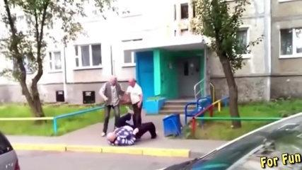 Funny russian alcoholics. Best street fights. Best fights compilation 2017 #14