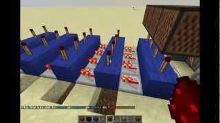 Minecraft: Redstone Tutorial: 4 Digit Combination Lock (CNB-minecraft) DUTCH!(nederlands)