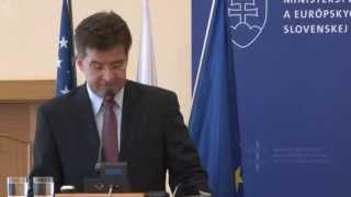 """Úvodný Príhovor Ministra Lajčáka Na Konferencii """"Innovation Imperative: Slovakia´s Future"""