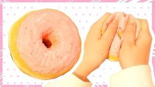 DIY Strawberry Donut Squishy Tutorial - Doughnut