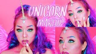 メロディさんから頂いたコスメでユニコーンメイク| unicorn makeup tutorial | Halloween | jeffree star
