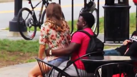 Girl Sitting on Guys (Social Experiment)