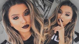 FALL MAKEUP TUTORIAL 2017  |  Cut Crease & Dark Lip