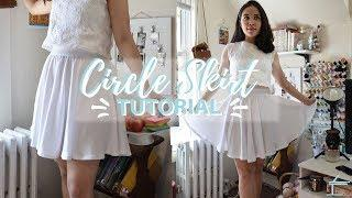 CIRCLE SKIRT TUTORIAL | NO ZIPPER | MINIMALIST & SIMPLE