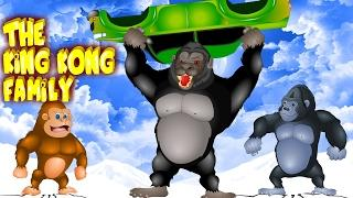 Finger Family (The King Kong Finger Family)   Kids Song  children Rhymes   Funny Videos