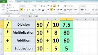 Excel 2010 Tutorial For Beginners #3 - Calculation Basics&Formulas (Microsoft Excel)