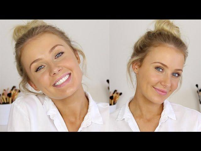 MESSY BUN / MINIMAL MAKEUP: Effortless Summer Look!