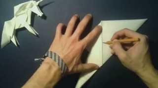 #16  Origami Unicorn By Roman Diaz (part 1 Of 3) - Yakomoga Origami Tutorial