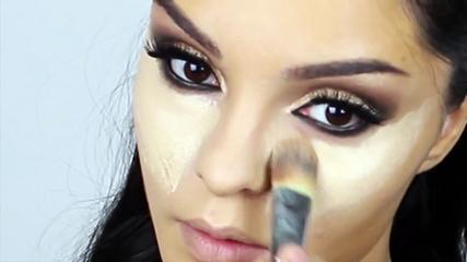 Kim Kardashian Makeup Tutorial New Brown Smokey Eyes