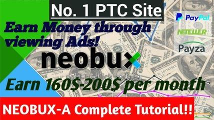How to earn money from Neobux ( Legit PTC)| 70-100$ per month || 100 % Working|| NEOBUX Tutorial