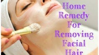 How to remove FACIAL Hair Naturally at Home!