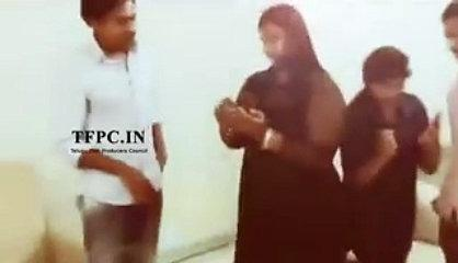 Pawan Kalyan Making Funny Chit Chat With His Girls Fans At His Home
