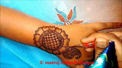 How to Easy Simple Mehndi Henna Designs Step By Step Tutorials- Matroj  Mehndi Designs