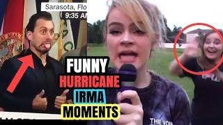 Hurricane Irma funny moments- Scary First Video Miami hit by Irma hurricane Irma aftermath