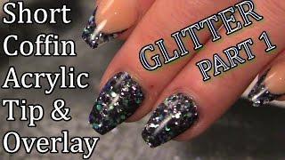 Salon Style Nails - Short Ballerina/Coffin Glitter Nails - Naio Nails Tutorial - Part 1