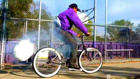 Exploding Bike Prank!