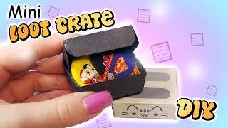 Miniature Loot Crate Inspired Tutorial // DIY Doll Subscription Box