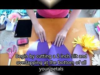 Giant Paper Flower Step by Step Tutorial
