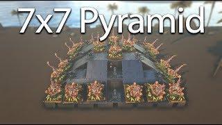 Ark - UNRAIDABLE 7x7 Pyramid Base Design [Tutorial]