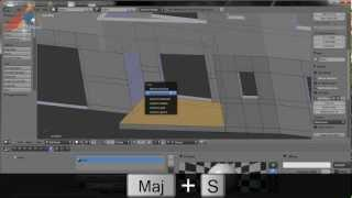 Blender: Tutoriel Architecture Francais, Extrait 2: Construction Perspective
