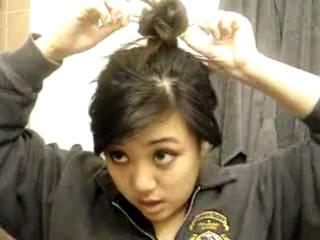 How To Make Messy Bun In 3 Minutes  Hairstely Video Tutorials Best-mehandi-designs.blogspot.com