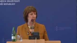 TK Počas Návštevy Catherine Ashton - Úvodné Slovo Vysokej Predstaviteľky Catherine Ashton
