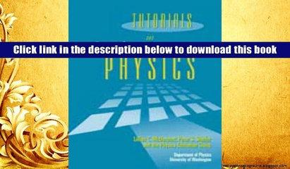 PDF Tutorials in Introductory Physics Full Book