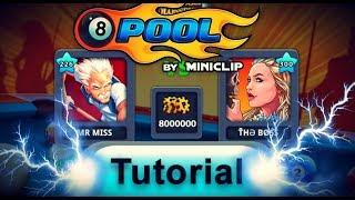 8 Ball Pool Tutorial - Trying to Beat The Boss 8 ball pool - GUIDE How to trick shot bank shot