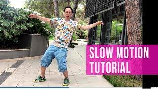 SLOW MOTION TUTOTIAL: 5 LEVELS OF THE DANCE SKILLS | popping dance tutorial | robot dance tutorial