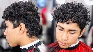 HAIRCUT TUTORIAL: CURLY HAIR DROP FADE