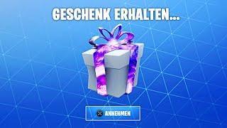 Seltenes Fortnite Geschenk KOSTENLOS bekommen! (Tutorial)