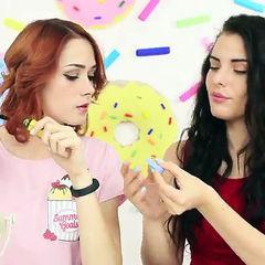 8 DIY Weird Makeup Ideas / Candy Makeup Tutorial. Full video: