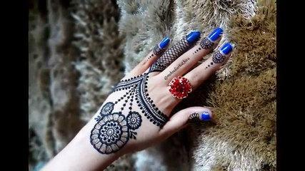 Easy DIY:Best and Beautiful jewellery inspired henna mehndi design Tutorial for eid and diwali