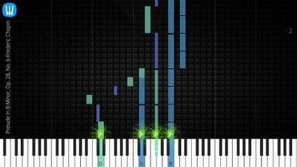 [Piano Solo]Prelude In B Minor, Op. 28, No. 6-Synthesia Piano Tutorial