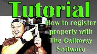 How To Register Properly with The Calloway Software? - Easy Tutorial for beginners