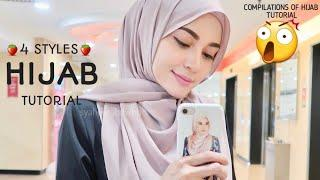 4 STYLES|| MOST RARE & STUNNING|| HIJAB SHAWL TUTORIAL|| WEDDING|| HANGOUT||
